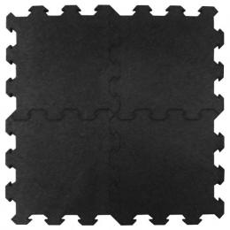 100x100 cm Pavimento nero per palestra e centri fitness