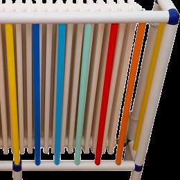 Copritermosifoni su misura con tubi di plastica PVC