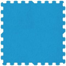 Morbido tappeto azzurro 100x100 cm