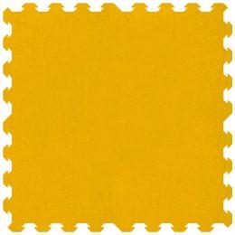 Tappeto incastro colore giallo 100x100 cm