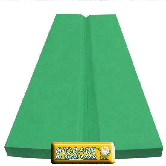 Angolare verde in gomma eva