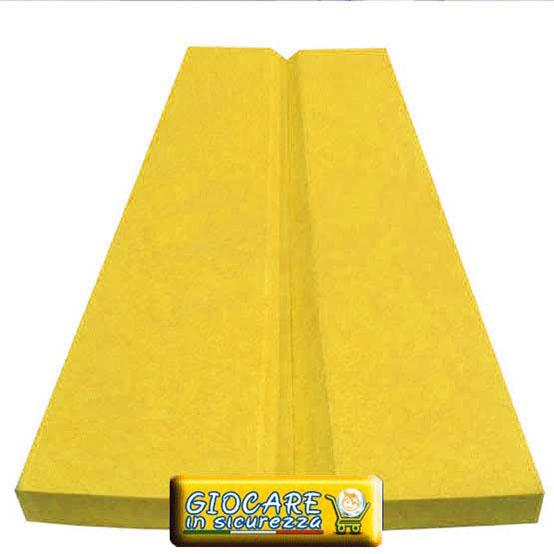 Paraspigolo antitrauma di colore giallo per aree gioco bambini