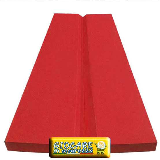 Soffice paraspigolo rosso in gomma morbida