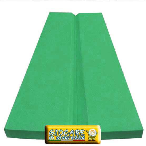 Paraspigolo verde in gomma eva atossica e antitrauma