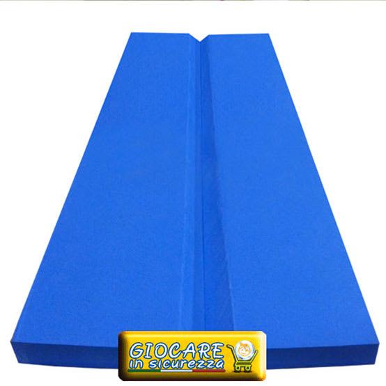 Protezione paraspigolo aperto di colore blu