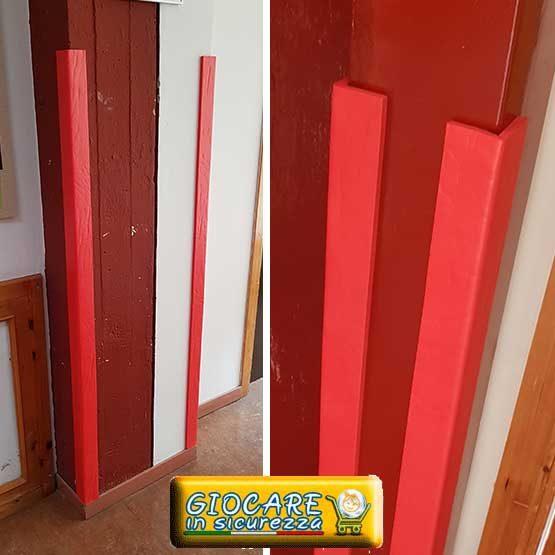 Antiurto angolare di colore rosso atossico