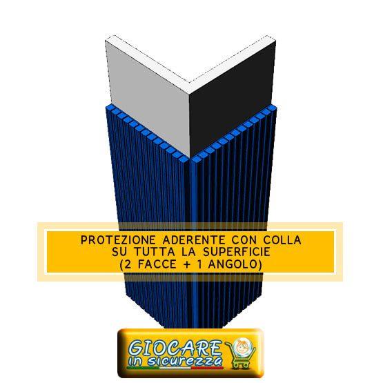 Pilastro con aderente protezione con colla su tutta la superficie