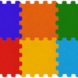 Tappetini puzzle monocolore di ottima qualità e totalmente atossici