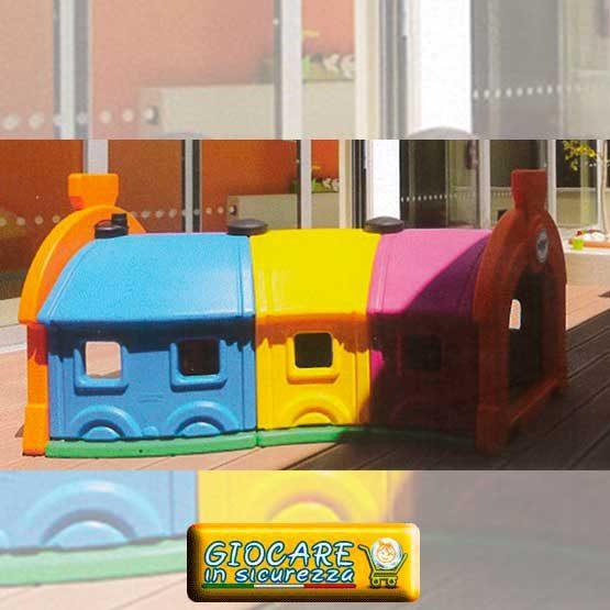3 vagoni galleria trenino gioco all'aperto