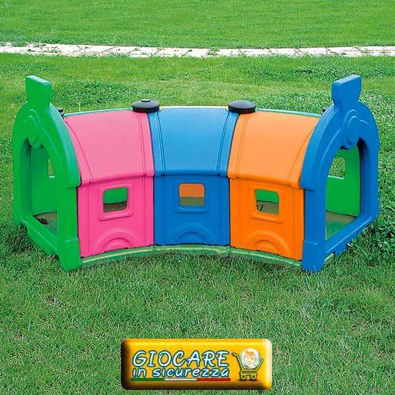 3 vagoni-galleria gioco da giardino