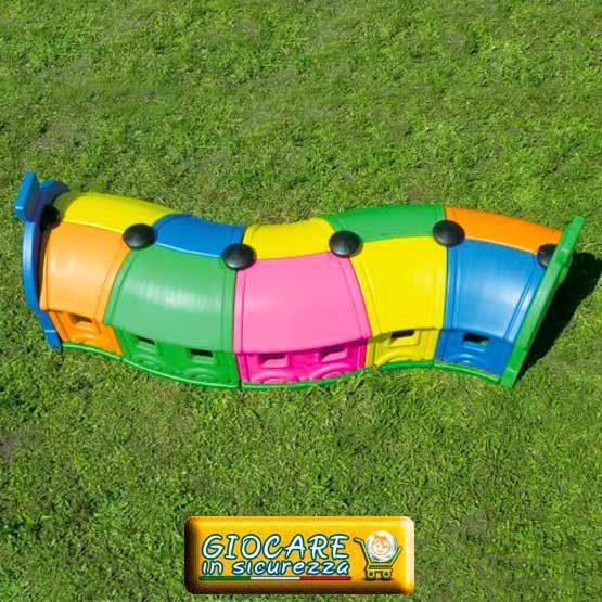 5 moduli tunnel di vagoni trenino gioco da esterno