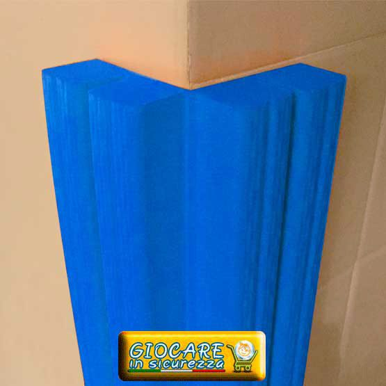 Paraspigolo azzurro di gomma soffice atossica o ignifuga