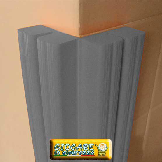 Paraspigolo grigio di gomma soffice atossica o ignifuga