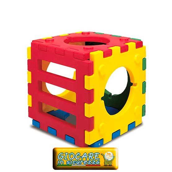 Percorso gioco modulare per bambini colorato, sicuro e protetto da plastica resistente per arredo aree gioco bambini