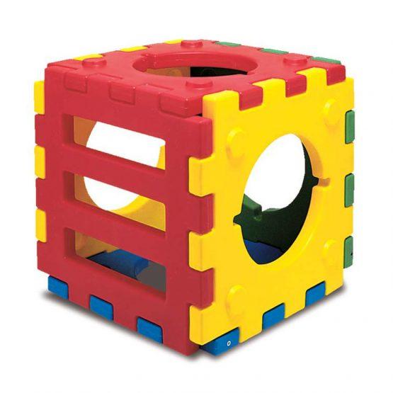 modulo cubo scaletta plastica di protezione per arredo giochi da esterni