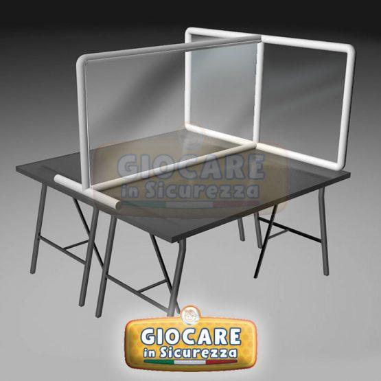 Pannelli divisori da scrivania o tavoli su misura