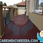Pavimento drenante ad incastro in gomma ideale per la casa, per terrazze e grandi superfici esterne
