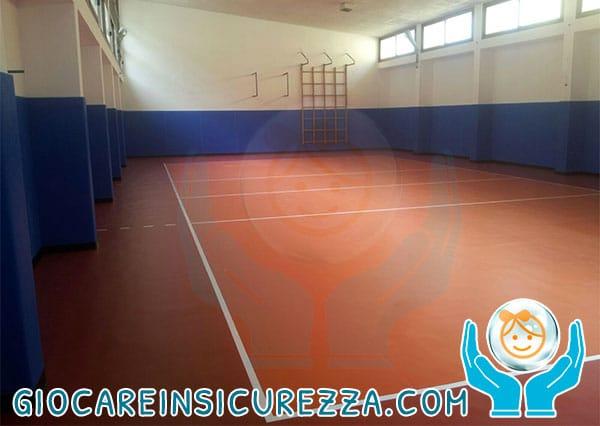 Pannello di protezione pareti e muri di un campo da gioco indoor