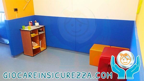 Pannello murale di protezione colore blu