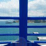 Particolare della protezione sportiva esterna su nave da crociera