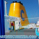 Varie protezioni sportive nelle navi da crociera