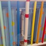 Particolare della copertura in plastica per radiatori, caloriferi e termo di ghisa