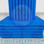 Base di pilastro con protezione in gomma antitrauma