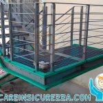 Scala di sicurezza/emergenza con protezioni antiurto in gomma ammortizzante e soffice