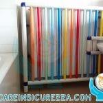 Copri radiatore protetto con tubi colorati di plastica PVC
