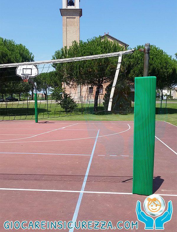 Volley protezione da esterno antitrauma da esterno per campo da gioco-pallavolo