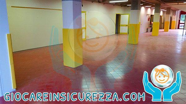 Protezione in gomma su pilastri e colonne in ambienti interni