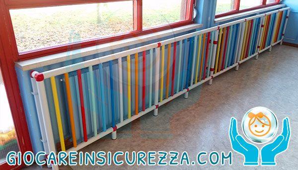 Tubi di plastica con protezioni su misura per radiatori e termosifoni