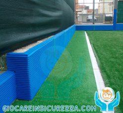 Rivestimento sportivo di protezione per muro a bordo campo