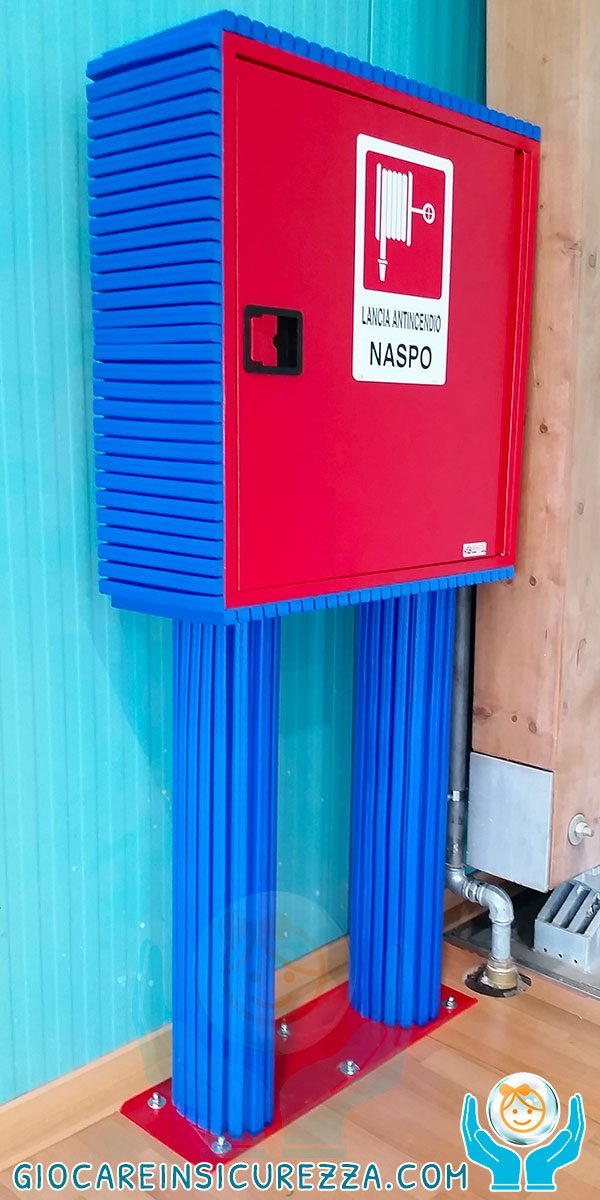 Protezione in gomma ignifuga per cassetta di lancia antincendio
