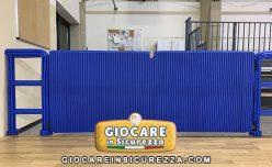 Barriere divisoria in gomma morbida anttirauma/antiurto per impianto sportivo e palazzetto dello sport e palestra
