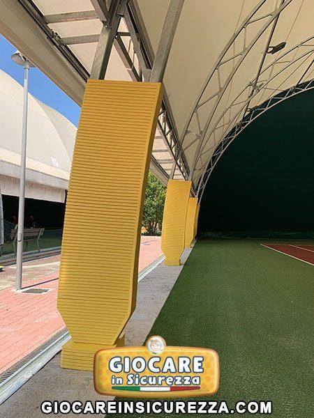 Coperture di protezione in gomma per impianti sportivi