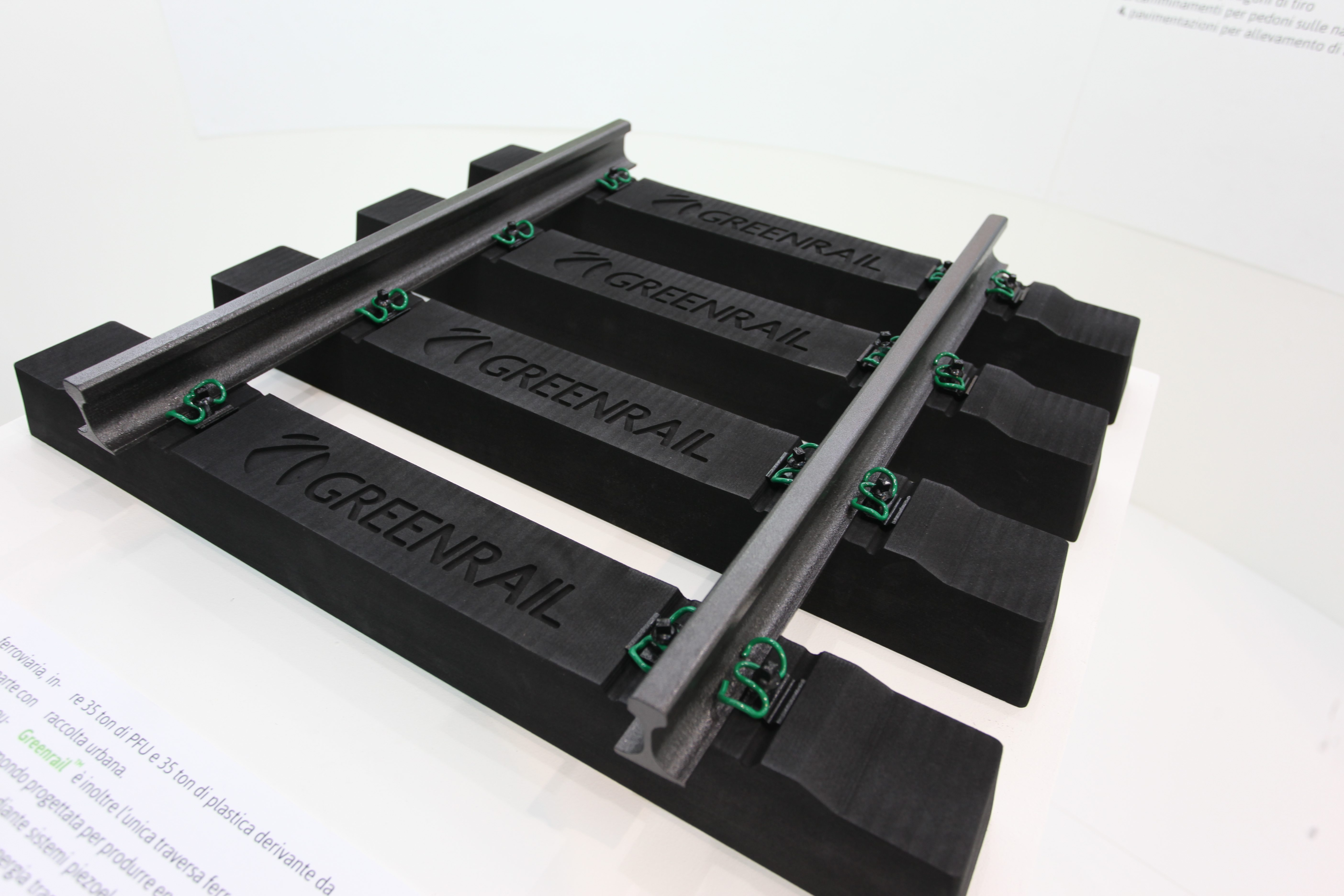 Sicurezza e protezione con gomam riciclata greenrail